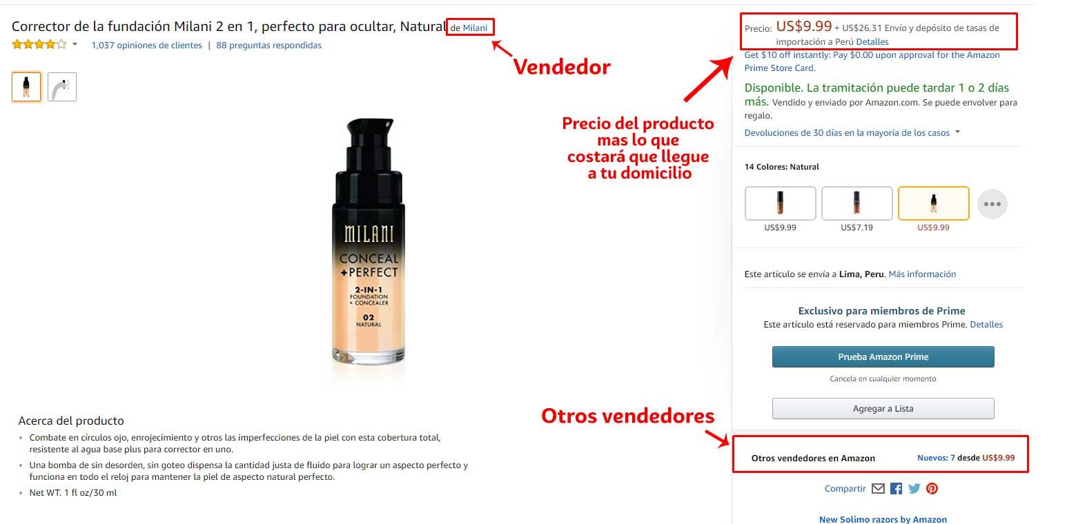 Dónde Comprar Tienda de Milanics Cosmetics en Amazon