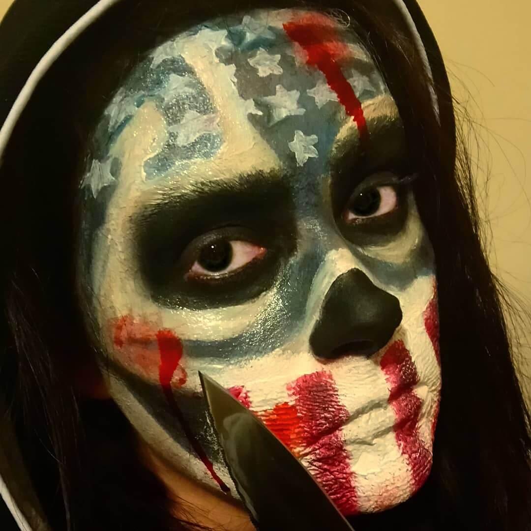 maquillaje la purga hombre